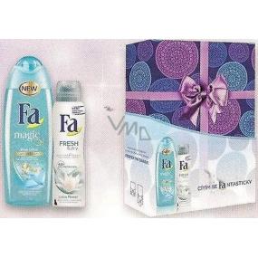 Fa Magic Blue Lotus sprchový gel 250 ml + Fa Fresh & Dry lotus Flower deodorant sprej pro ženy 150 ml, kosmetická sada