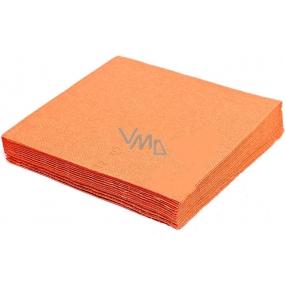 Gastro Papírové ubrousky barevné oranžové 2 vrstvé 33 x 33 cm 50 kusů