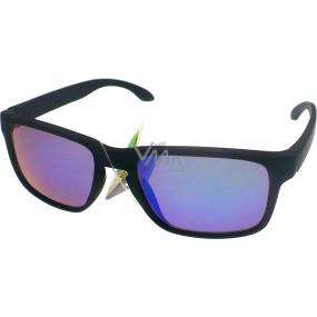 Dudes & Dudettes JK442 černé modré sklo sluneční brýle pro děti