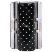 Linziclip Maxi Vlasový skřipec černý s puntíky 8 cm vhodný pro hustší vlasy 1 kus