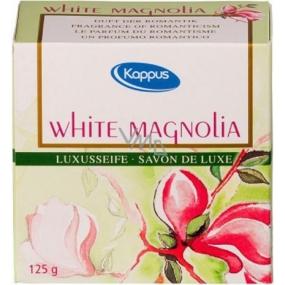 Kappus White magnolia - Sladká magnólia luxusní toaletní mýdlo 125 g