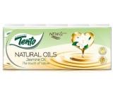 Tento Natural Oils Jasmine Oil parfémované hygienické kapesníky 4vrstvé 10 x 10 kusů
