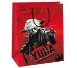 Ditipo Disney Dárková papírová taška pro děti M Star Wars Yoda 23 x 9,8 x 17,5 cm