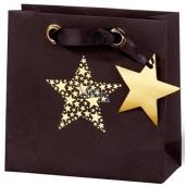 BSB Luxusní vánoční dárková papírová taška 14,5 x 15 x 6 cm Star Festival VDT 417 - CD