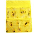 Kapsář na zavěšení žlutý 47 x 36 cm 5 kapes 713