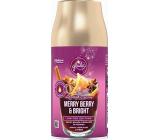 Glade Merry Berry & Bright automatický osvěžovač vzduchu s vůní merlotu, lesních plodů a koření, náhradní náplň sprej 269 ml