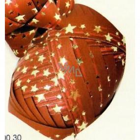 Nekupto Klubíčko Luxus červené se zlatými hvězdičkami 1 cm x 10 m KB 200 30