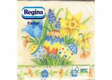 Regina Papírové ubrousky 1 vrstvé 33 x 33 cm 20 kusů Velikonoční vajíčka, květiny