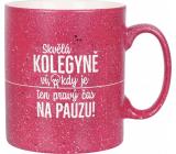 Albi Kameninový hrnek Kolegyně malinový 570 ml