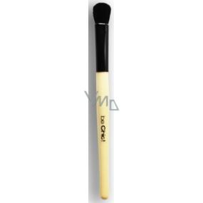 Be Chic! Professional White B 07 kosmetický štětec na oči plochý, přírodní černý kozí vlas 16 cm