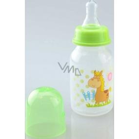 First Steps Feeding Bottle Koník 0+ kojenecká láhev se silikonovou savičkou 150 ml
