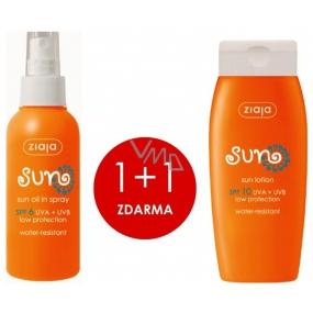 Ziaja Sopot Sun SPF6 voděodolný olej na opalování 125 ml + Ziaja Sopot Sun SPF10 voděodolné mléko na opalování 150 ml, duopack