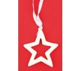 Keramická hvězda k zavěšení 7 cm