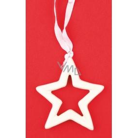 Hvězda keramická na zavěšení 7 cm