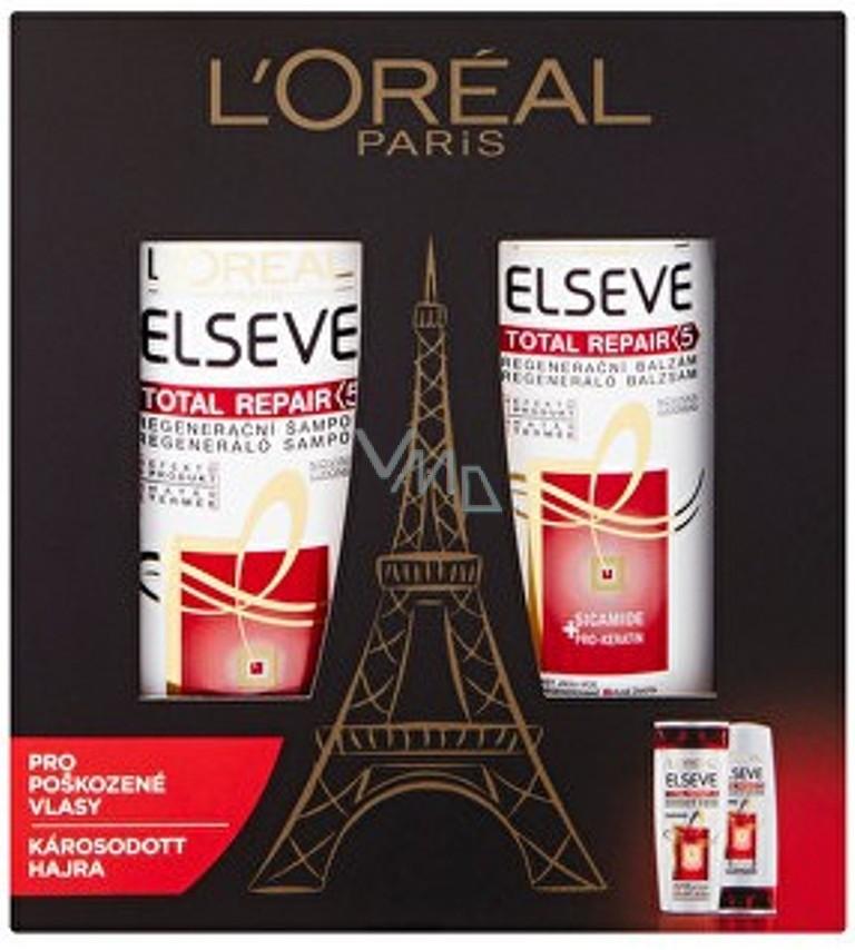 Loreal Paris Elseve Total Repair 5 ošetřující šampon 250 ml + balzám na  vlasy 200 ml abf9af22517