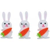 Zajíčci s mrkví v krabičce 6 cm 3 kusy