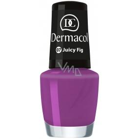 Dermacol Nail Polish Mini Summer Collection lak na nehty 07 Juicy Fig 5 ml