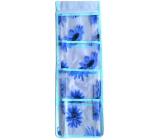 Kapsář na zavěšení modrý 54 x 18 cm 4 kapsy 712