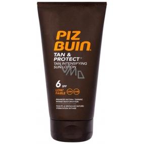 Piz Buin Tan & Protect SPF6 opalovací mléko urychlující opalování 150 ml