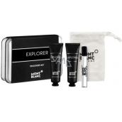 Montblanc Explorer parfémovaná voda pro muže 7,5 ml + sprchový gel 30 ml + voda po holení 30 ml, dárková sada