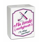 Albi Pokladnička keramická cihlička Ženské nezbytnosti 11,8 x 10 x 5 cm