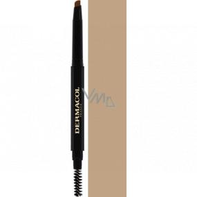 Dermacol Eyebrow Perfector Automatic tužka na obočí s kartáčkem 01 3 g