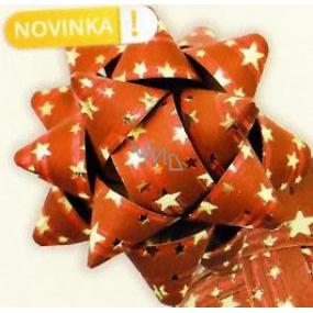 Nekupto Hvězdice střední luxus červená se zlatými hvězdičkami HV 200 30