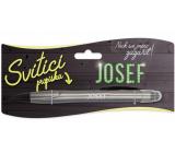 Nekupto Svítící propiska se jménem Josef, ovládač dotykových nástrojů 15 cm