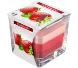 Bispol Strawberry - Jahoda tříbarevná vonná svíčka sklo, doba hoření 32 hodin 170 g