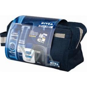 Nivea Kazpower gel na holení 200 ml + balzám po holení 100 ml + šampon 250 ml taška,pro muže kosmetická sada