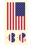 Arch Tetovací obtisky na obličej i tělo USA, Americká vlajka 3 motiv
