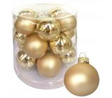 Sada skleněných baněk zlatých 4 cm 18 kusů