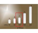 Lima Gastro hladká svíčka bílá válec 40 x 100 mm 1 kus
