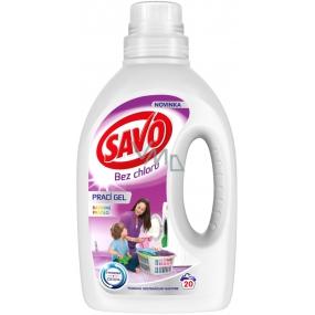 Savo Color bez chloru prací gel na barevné prádlo 20 dávek 1 l