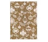 Ditipo Dárkový balicí papír 70 x 500 cm Vánoční zlatý bílé vánoční ozdoby