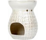 Heart & Home Aromalampa Čtverečky velká bílá 12,5 cm