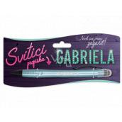 Nekupto Svítící propiska se jménem Gabriela, ovládač dotykových nástrojů 15 cm