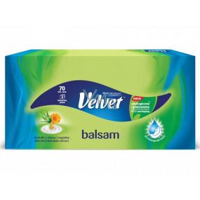 Velvet Balsam papírové kapesníčky 3 vrstvé 70 kusů v krabičce