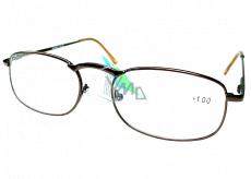 Berkeley Čtecí dioptrické brýle +1 hnědé kov 1 kus MC2005