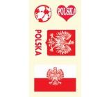Arch Tetovací obtisky na obličej i tělo Polská vlajka 1 motiv