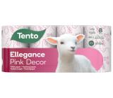 Tento Ellegance Pink Decor toaletní papír 3 vrstvý 150 útržků 8 kusů