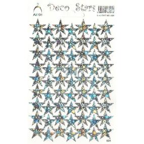 Arch Holografické dekorační samolepky stříbrné hvězdičky 1 arch