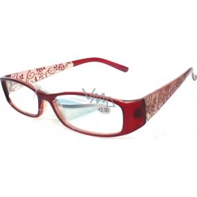 Catherine čtecí dioptrické brýle +2,5 hnědé retro CB02 1 kus
