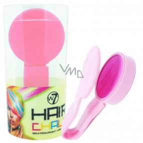 W7 Hair Chalk barvící křída na vlasy Pink 2 g