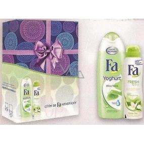 Fa Yoghurt Aloe Vera sprchový gel 250 ml + Fa Fresh & Dry Green Tea deodorant sprej pro ženy 150 ml, kosmetická sada