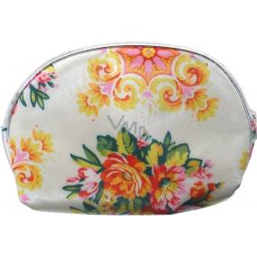 Etue Bílá s květy 13 x 10 x 1,5 cm cm 70100