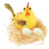 Slepička v hnízdě žlutá 7 cm