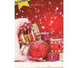 Nekupto Dárková papírová taška velká 32,5 x 26 x 13 cm Vánoční 1474 30 WBL