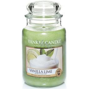 Yankee Candle Vanilla Lime - Vanilka s limetkou vonná svíčka Classic velká sklo 623 g