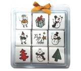 Nekupto Čokoládové puzzle Sněhuláci 9 x 5 g, WQ 008